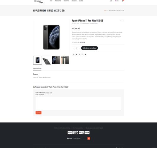 Jak vypadá stránka s produktem