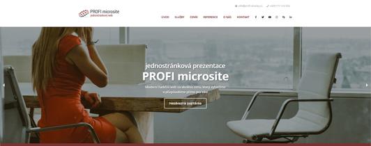 Sekce: Záhlaví se sliderem | PROFI microsite